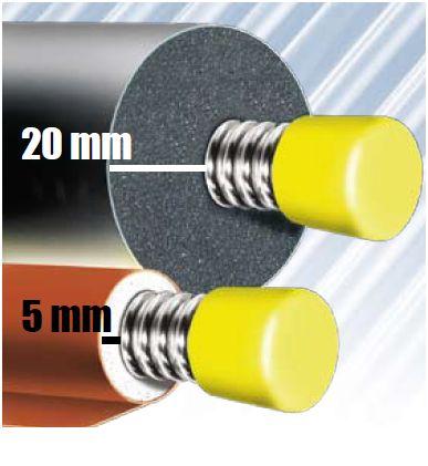 Solarleitung 2xDN20 25 m Edelstahlwellrohr  mit 5mm Aerogel Isolierung